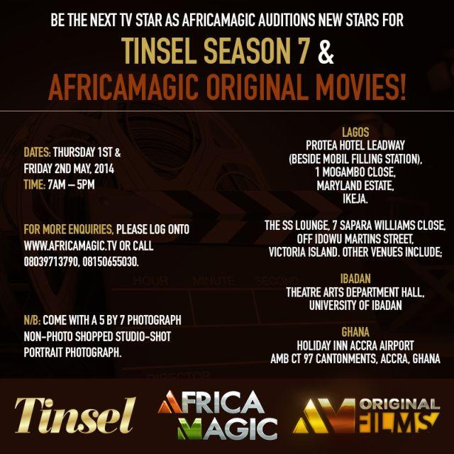 Audition for Tinsel Season 7 & AfricaMagic Original Films in