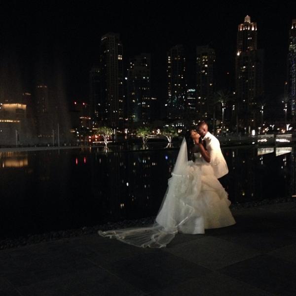 Tiwa Savage Dubai Wedding TJ Balogun