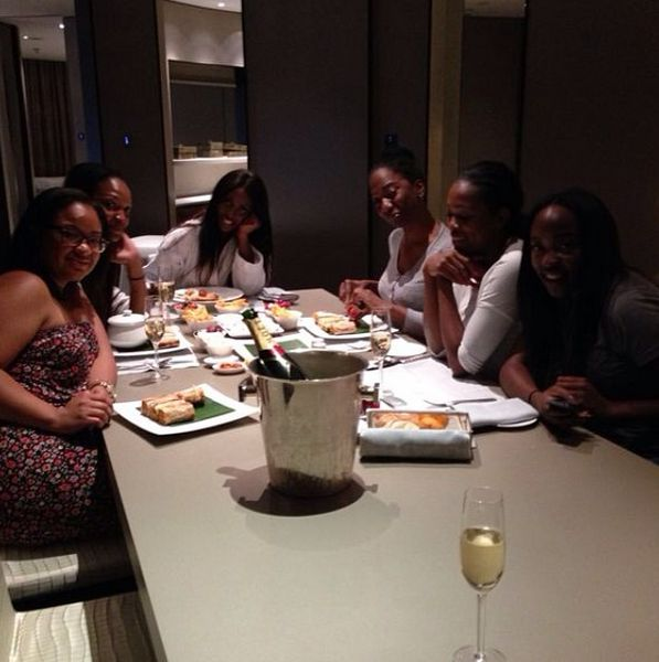 Guests with Tiwa Savage including  Remi Fagbohun, Elohor Aisien, Debola Falana