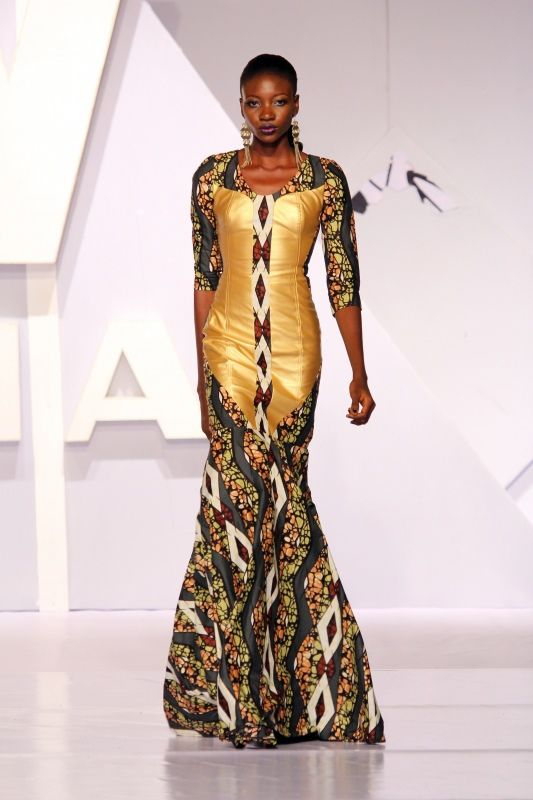 2014 Africa Fashion Week Nigeria Dzyn Couture