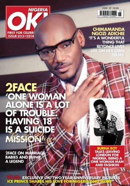 2Face Idibia on OK! Nigeria Magazine on BellaNaija - May 2014  - BellaNaija001