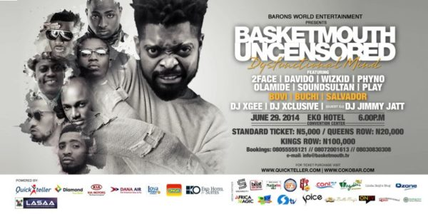 Basketmouth Uncensored - Dysfunctional Mind - May 2014 - BellaNaija.com