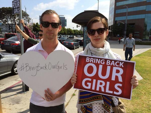 #BringBackOurGirls - Anne Hathaway - May 2014 - BellaNaija.com 02