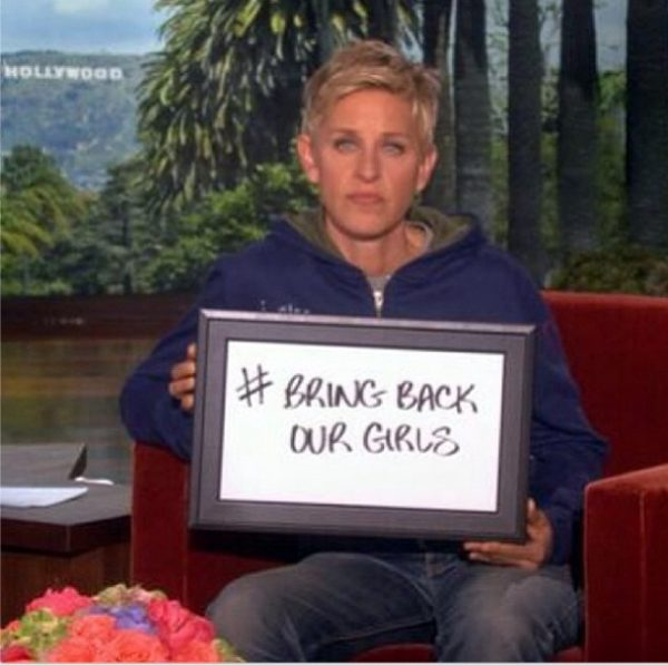 #BringBackOurGirls - Ellen DeGeneres  - May 2014 - BellaNaija.com