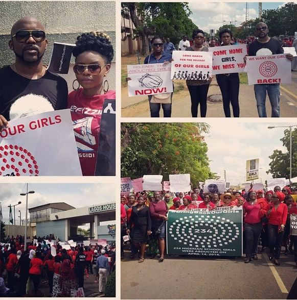 #BringBackOurGirls - Lagos Match - May 2014 - BellaNaija.com 02
