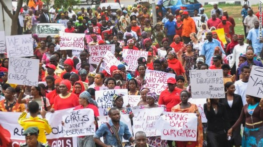 BringBackOurGirls Protesters Fight