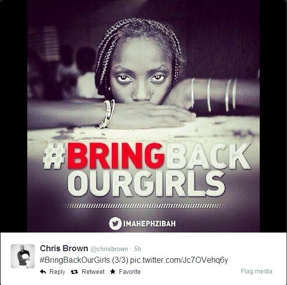 Chris Brown Bring Back Our Girls Bella Naija