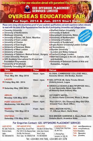 GEC Overseas Education Fair 2014 - Bellanaija - May 2014