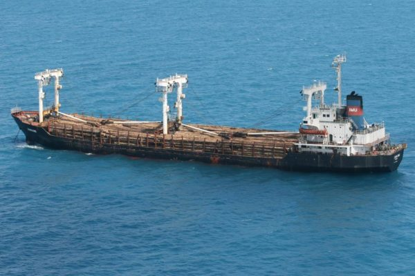 Hong Kong Cargo Ships Collide Bella Naija