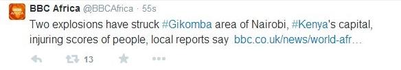 Kenya bombing Bella Naija