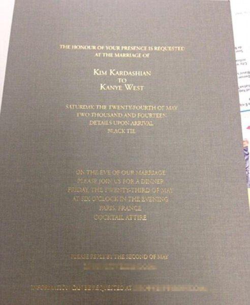 Kim Kardashian & Kanye West Wedding Invitation - BellaNaija - May 2014002