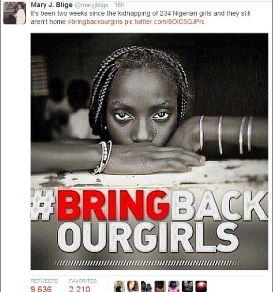 Mary J Blige Bring Back Our Girls Bella Naija