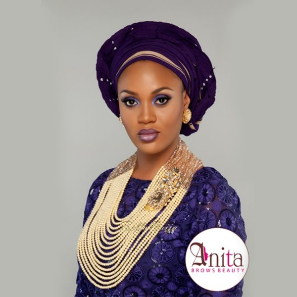 Nigerian Wedding, Nigerian Bridal Makeup - Anita Brows Beauty, Geebalo, Blix Lashes & Tap Studios | BellaNaija Weddings 00