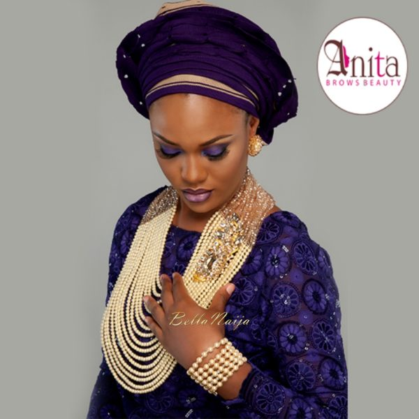 Nigerian Wedding, Nigerian Bridal Makeup - Anita Brows Beauty, Geebalo, Blix Lashes & Tap Studios | BellaNaija Weddings 01