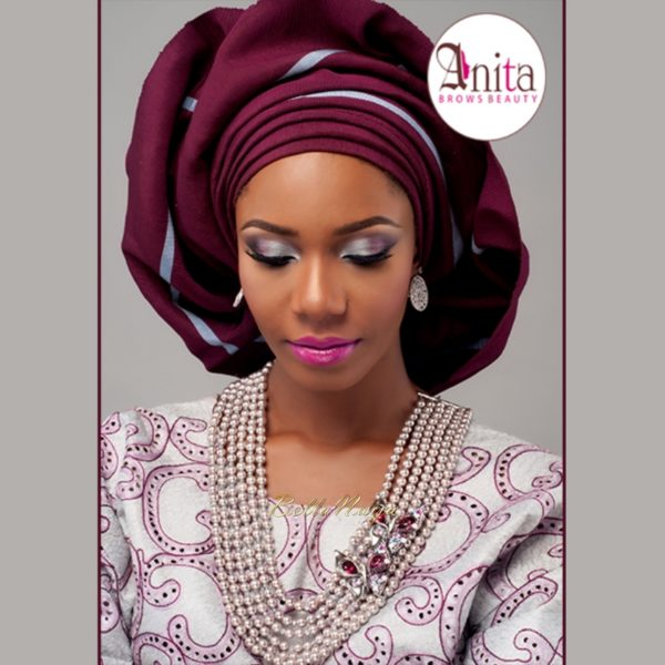 Nigerian Wedding, Nigerian Bridal Makeup - Anita Brows Beauty, Geebalo, Blix Lashes & Tap Studios | BellaNaija Weddings 014