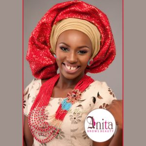 Nigerian Wedding, Nigerian Bridal Makeup - Anita Brows Beauty, Geebalo, Blix Lashes & Tap Studios | BellaNaija Weddings 017