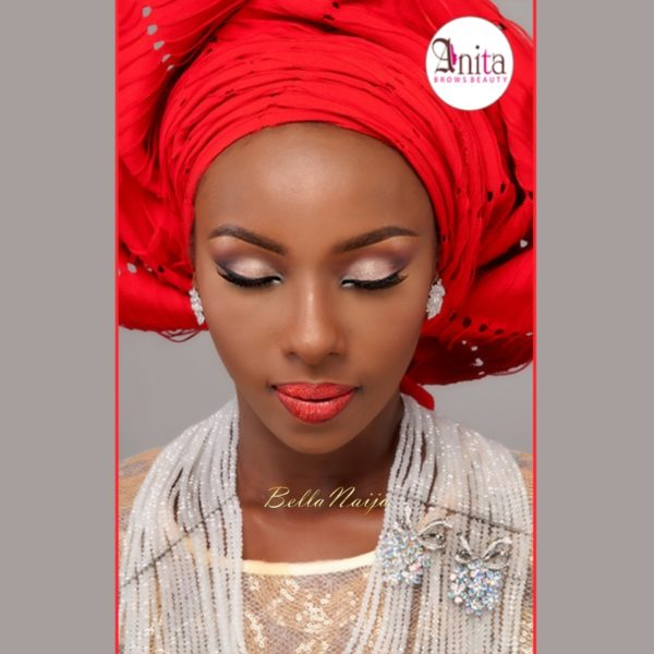 Nigerian Wedding, Nigerian Bridal Makeup - Anita Brows Beauty, Geebalo, Blix Lashes & Tap Studios | BellaNaija Weddings 06