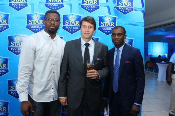 L-R MOSES PRAIZ, WALTER DRENTH & JOE HANSEN AT STAR FOOTBALL ANNOUNCEMENT