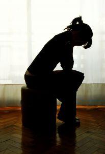 depressed silhouette
