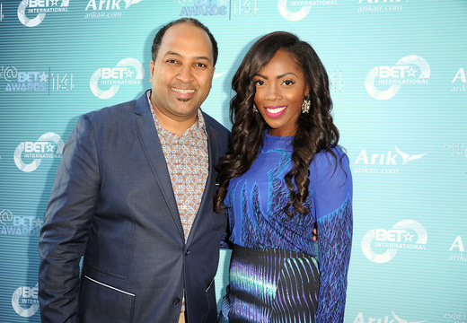 Senior Vice President and General Manager of BET International, Michael D. Armstrong and Tiwa Savage