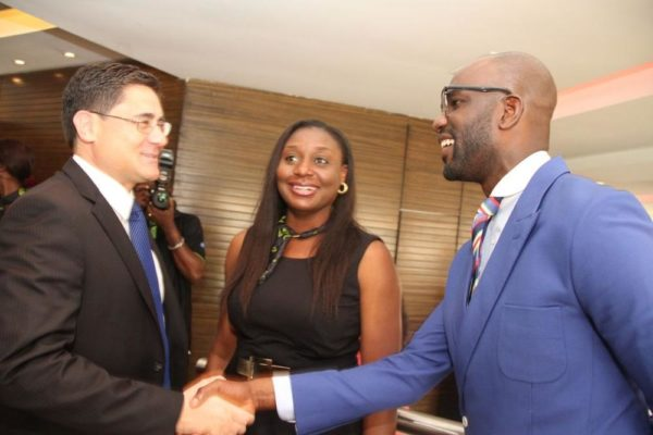 Acting CEO, Etisalat Nigeria, Matthew Willsher; Head Events & Sponsorships, Etisalat Nigeria, Modupe Thani and Mai Atafo