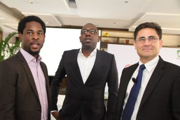 Director, Brands & Communications, Etisalat Nigeria, Enitan Denloye; Director, Consumer Segment, Etisalat Nigeria, Oluwole Rawa and Acting CEO, Etisalat Nigeria, Matthew Willsher