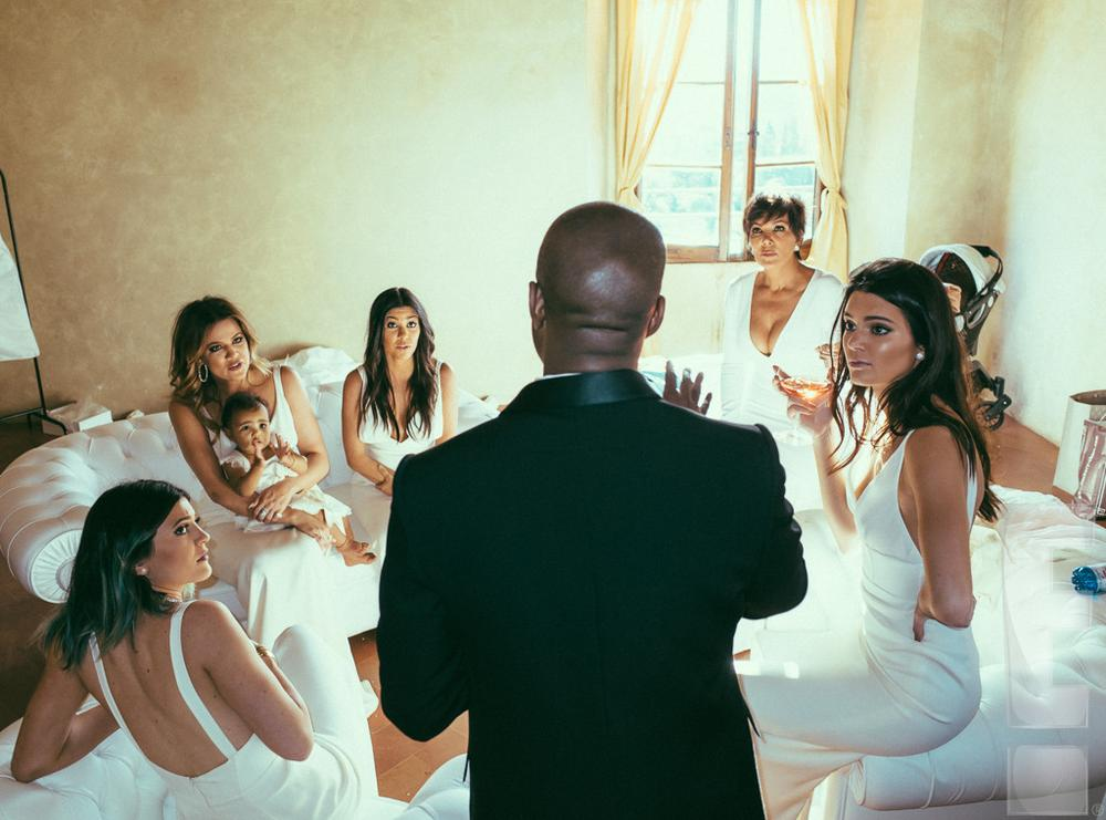 north west �steals� the spotlight in new kimye wedding photos