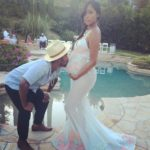 Omarion & Girlfriend at Baby Shower in June