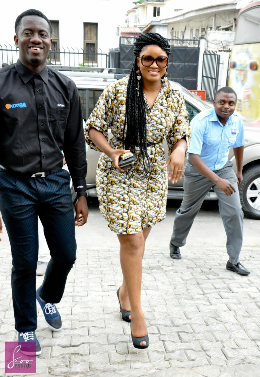 Omotola Jalade Ekeinde In Alter Ego At The Konga Car Giveaway In Lagos