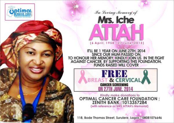 Optimal Cancer Care Foundation - Bellanaija - June2014