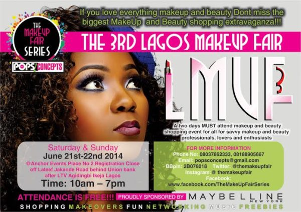 Pops Concepts 3rd Lagos Makeup Fair - Bellanaija - June2014