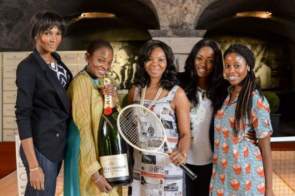 Ruth Osime, Betty Irabor & Agbani Darego at 2014 Roland Garros Tournament - BellaNaija - June2014021