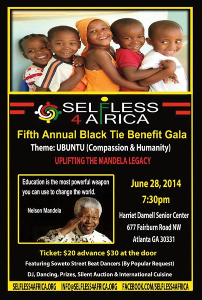 SELFLESS 4 AFRICA FLYER