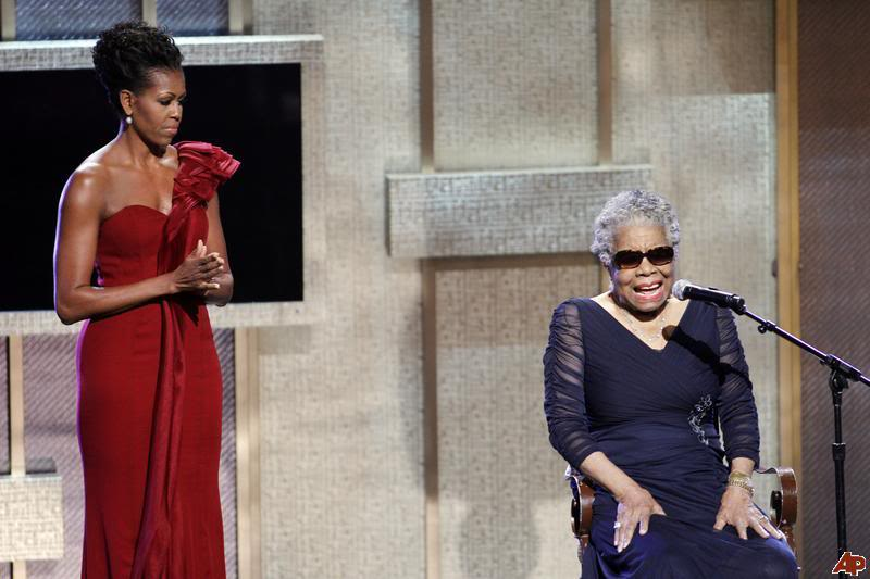 commemorative speech on maya angelou (cnn) -- poetry, performance and prayer celebrated the voice of literary giant maya angelou at a memorial service held saturday at wake forest university in winston-salem, north carolina.