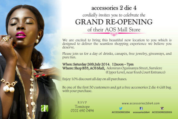 Accessories to Die For - Events This Weekend - July 2014 - BN Events  BellaNaija.com 01