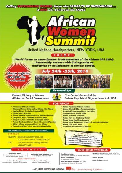 African Women Summit - Events This Weekend - July 2014 - BellaNaija.com 01