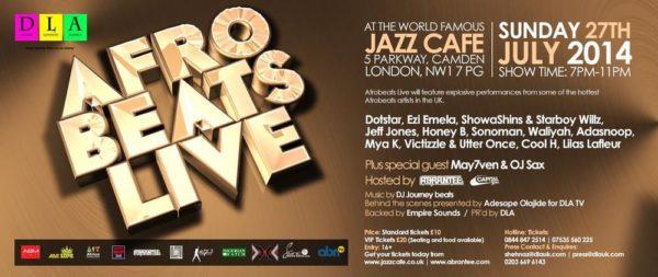 Afrobeats Live - Events This Weekend - BN Events - July 2014 - BellaNaija.com 01