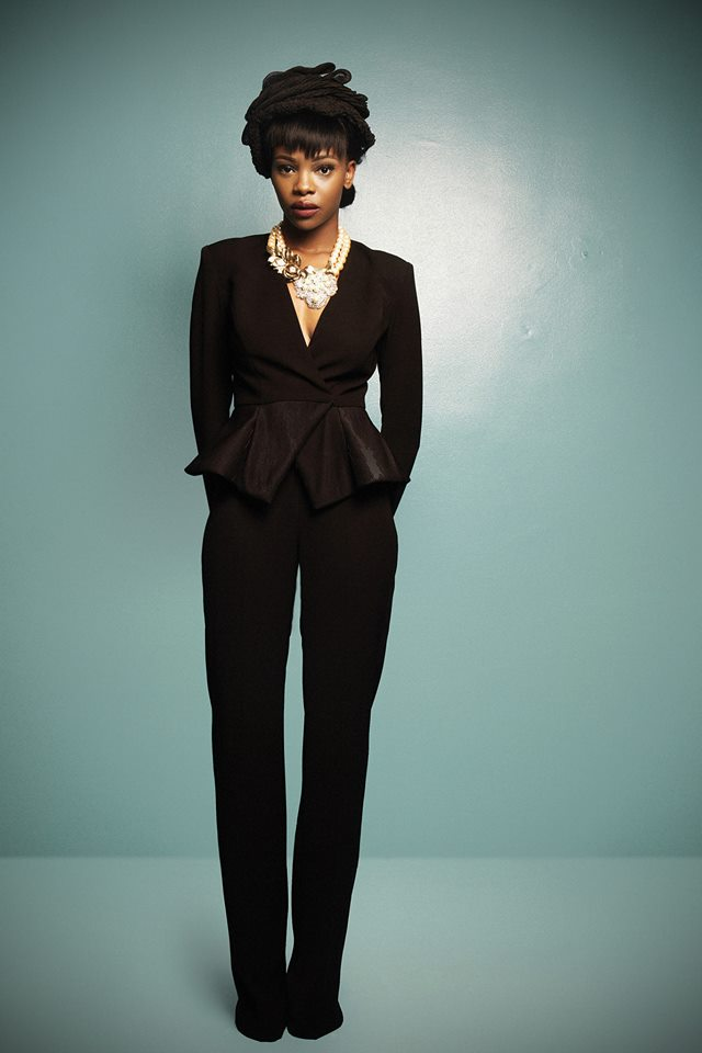 A peplum pantsuit from CLAN's 2014 collection