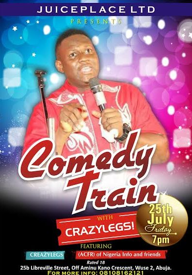 Comedy Train - Events This Weekend - July 2014 - BellaNaija.com 01