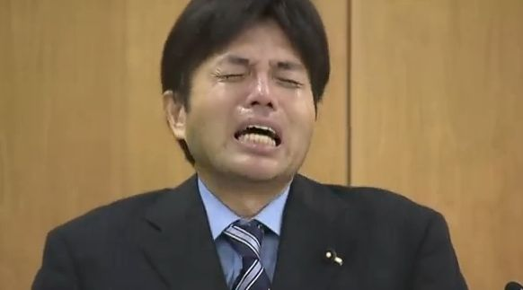 Crying Japanese Politician - July 2014