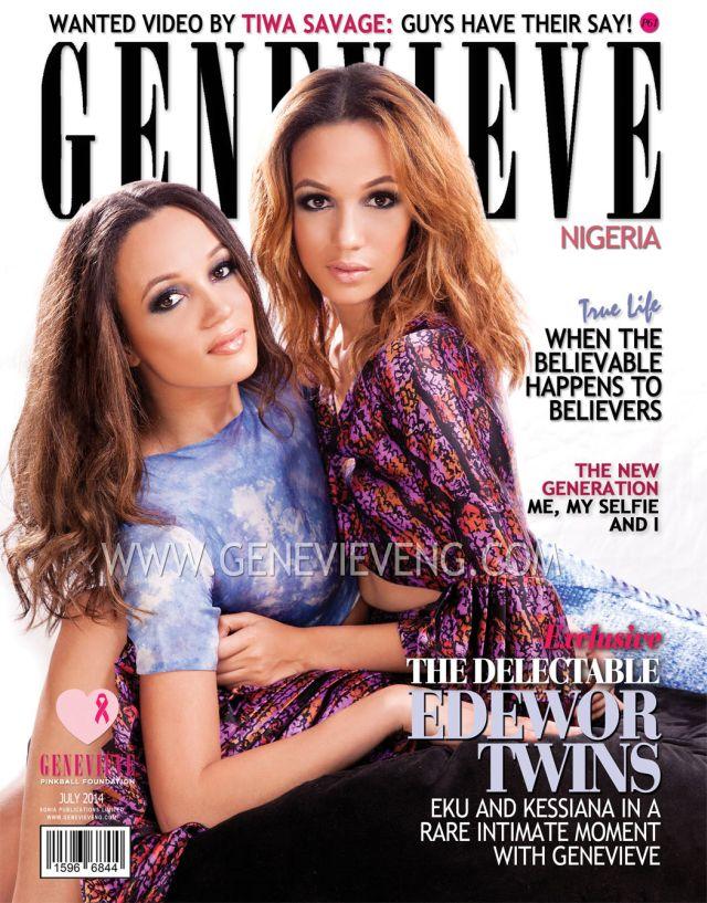 Eku & Kessiana Edewor - July 2014 - Genevieve Magazine - BellaNaija.com 01