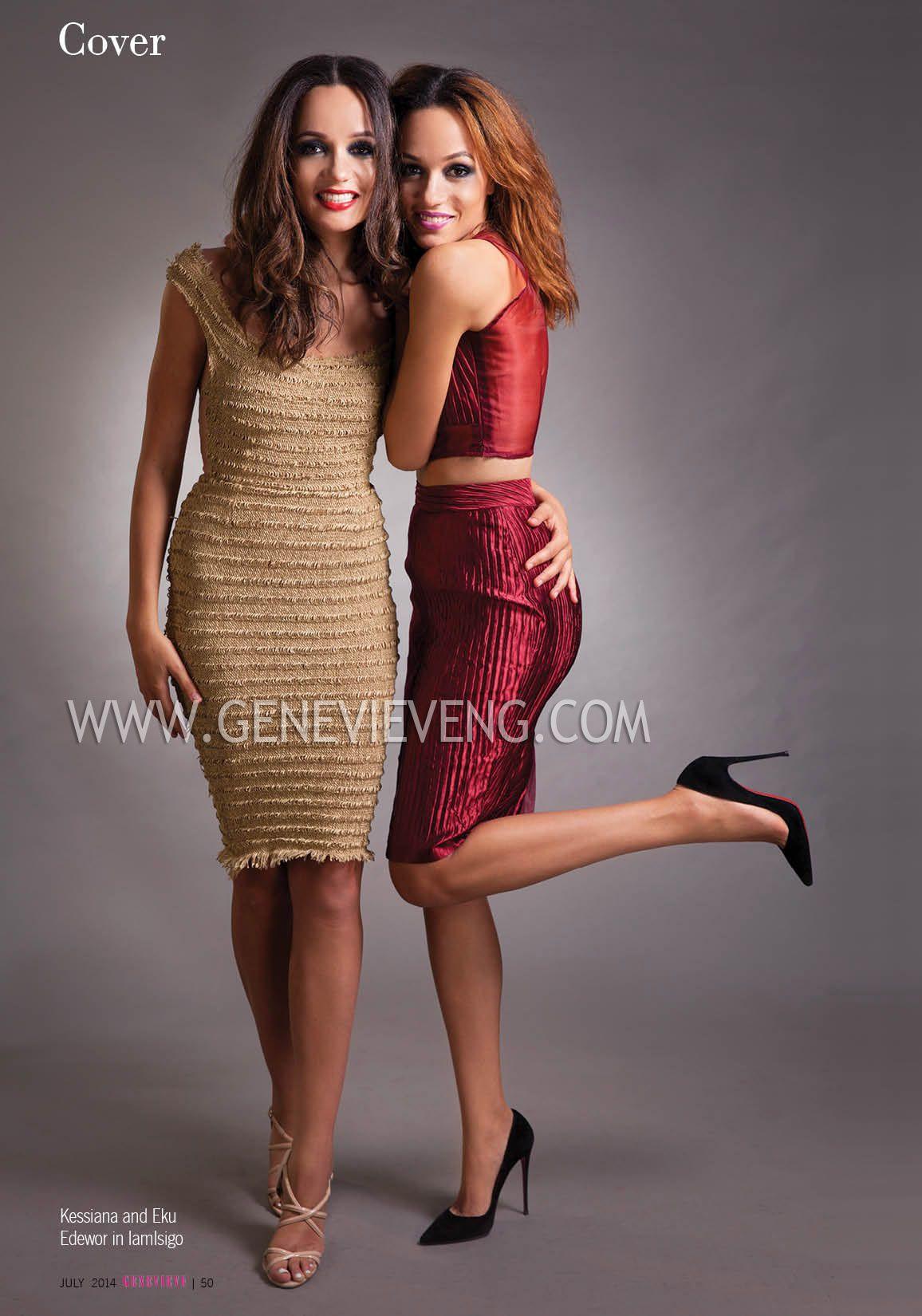 Eku & Kessiana Edewor - July 2014 - Genevieve Magazine - BellaNaija.com 02