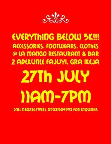 Everything Below 5K - Events This Weekend - July 2014 - BellaNaija.com 01