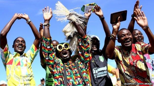 Ghana Football Fans in Brazil - July 2014 - BellaNaija.com