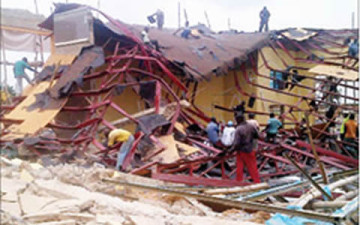 Hall of Osun State school collapses BellaNaija