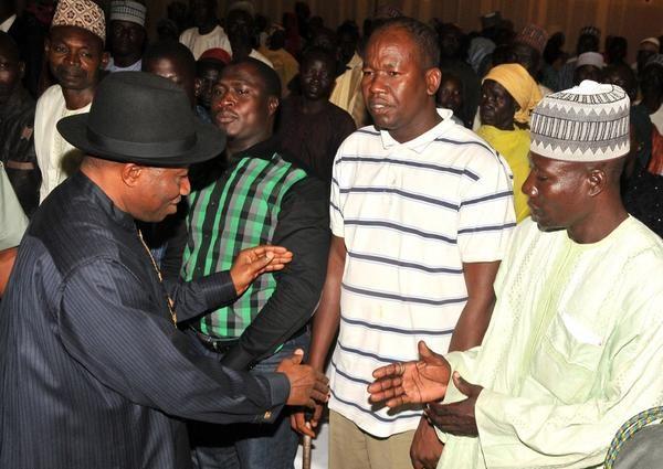 Jonathan Meets with Chibok Girls Parents - July 2014 - BellaNaija.com 01009