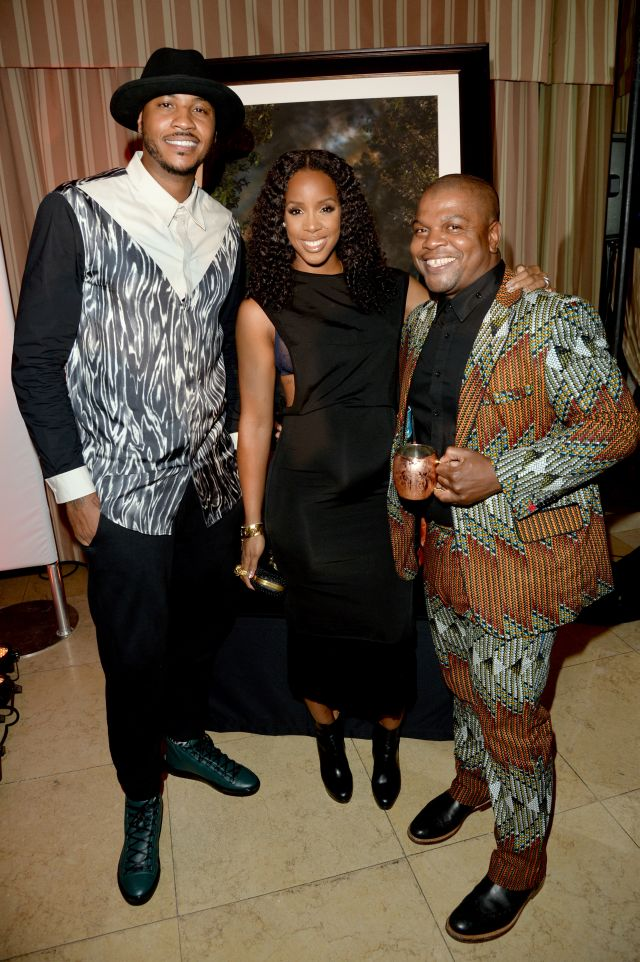 Carmelo Anthony, Kelly Rowland & Kehinde Wiley