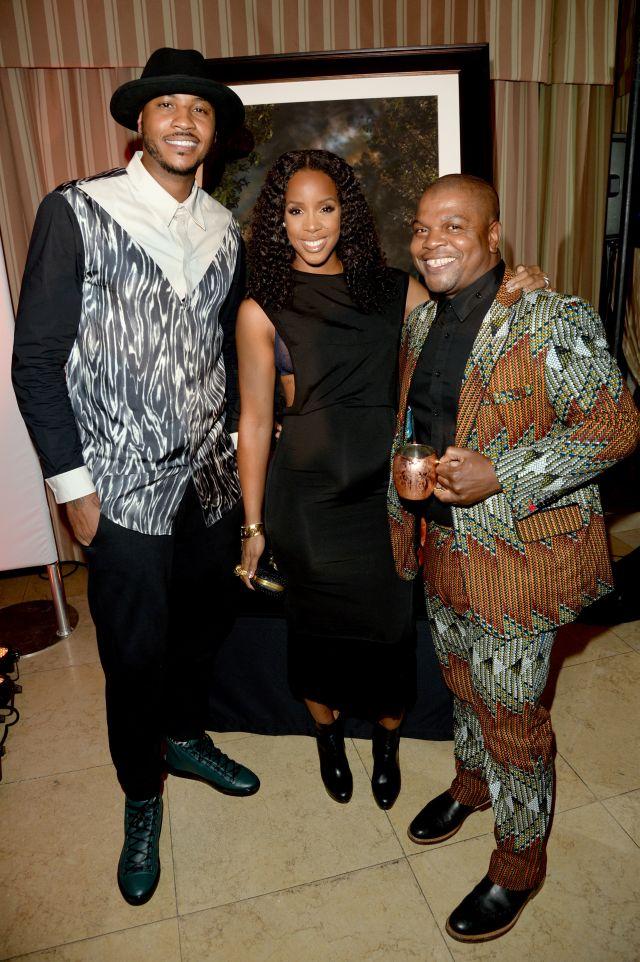 Carmelo Anthony, Kelly Rowland & Kehinde Wiley