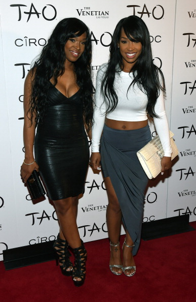 Actress Khadijah Haqq (L) and her sister, actress Malika Haqq