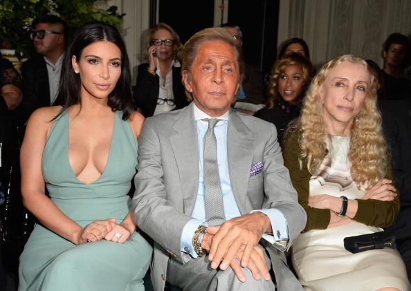 Kim Kardashian, Valentino Garavani &  Franca Sozzani